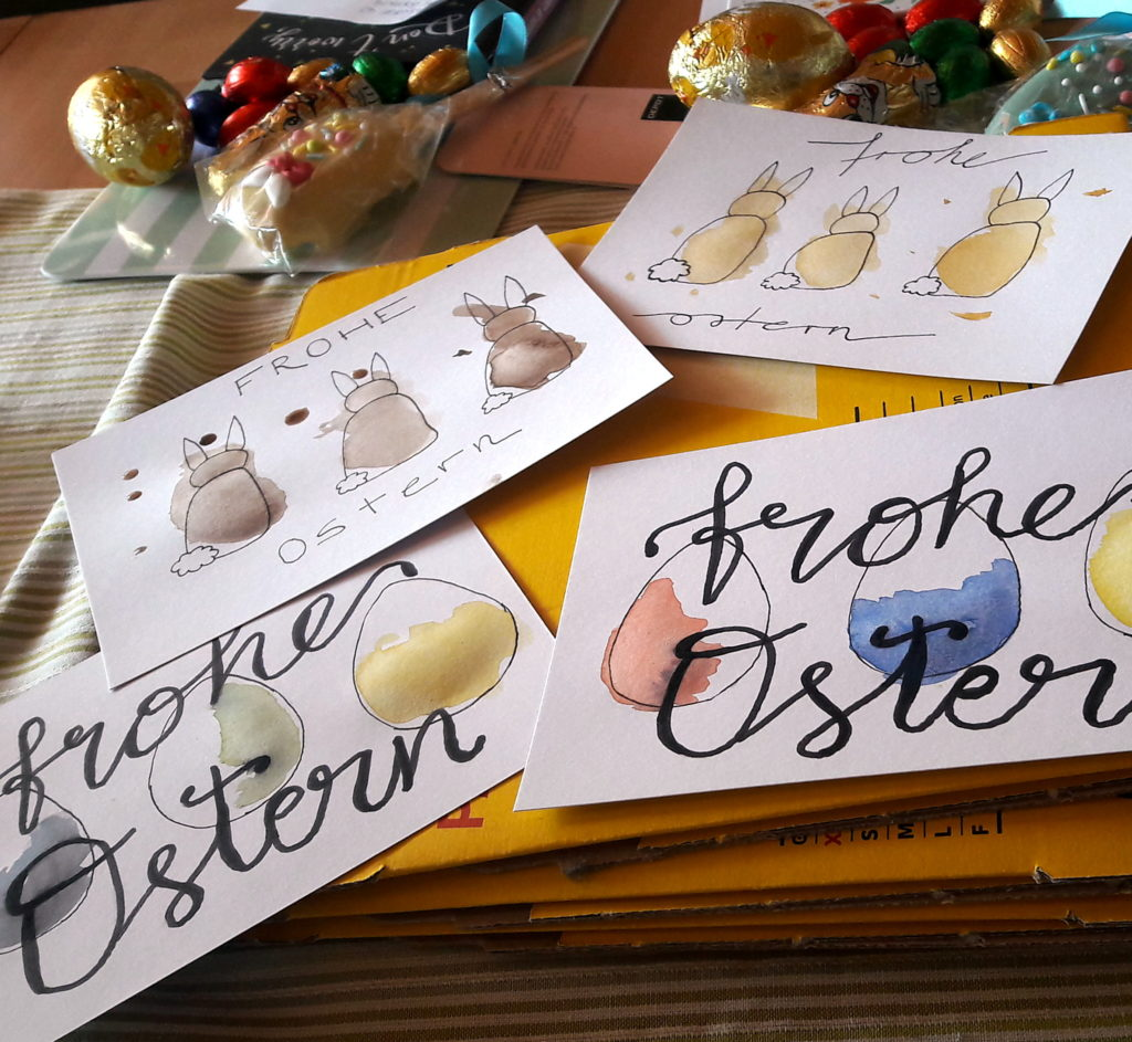 Selbst gemalte Osterkarten