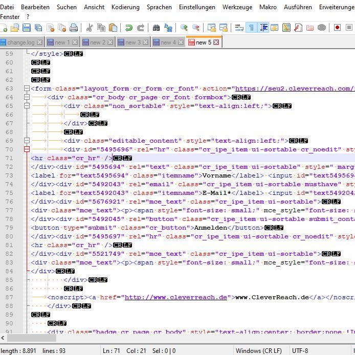 Effizient am Quellcode arbeiten dank Notepad++