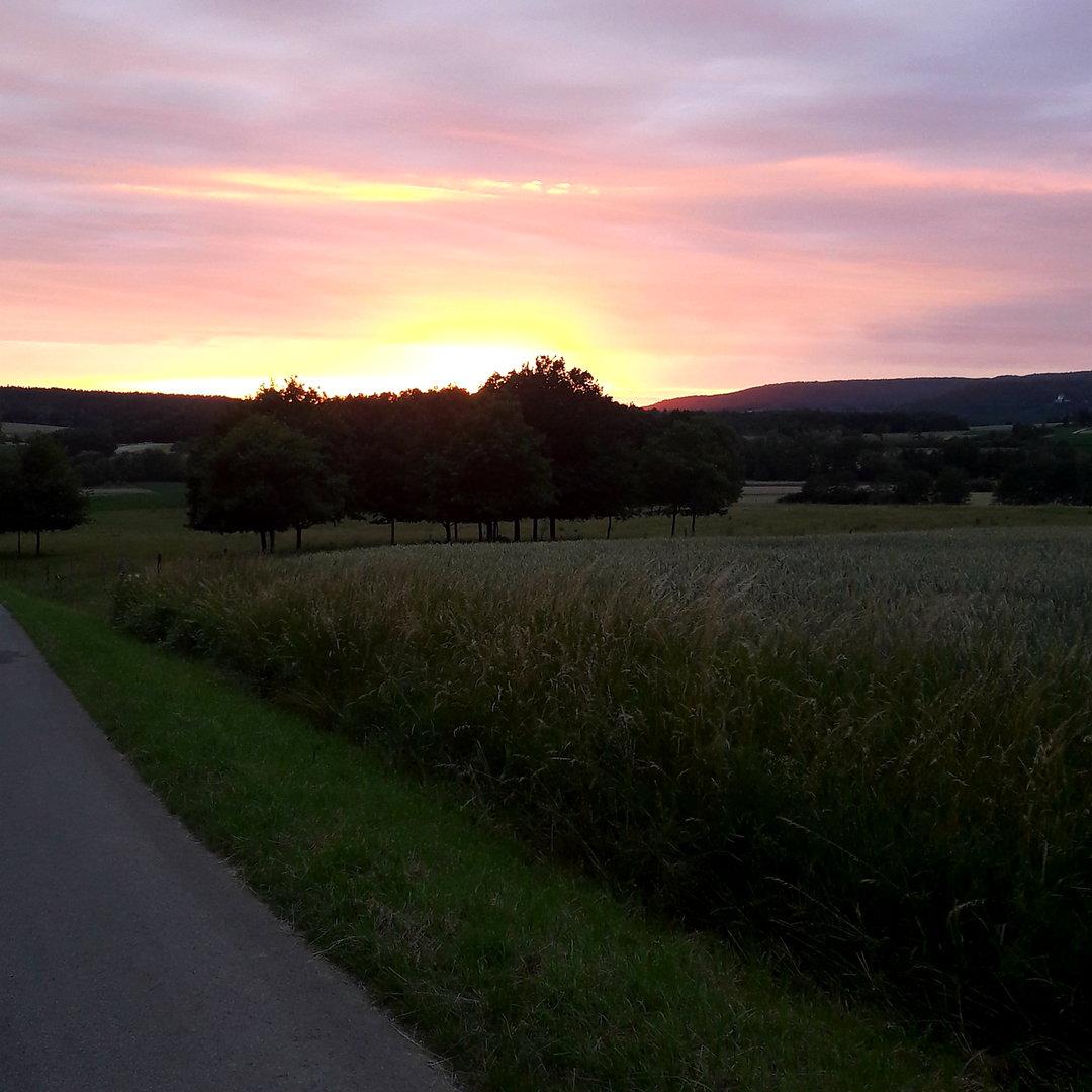 Sonnenuntergang fränkische Schweiz