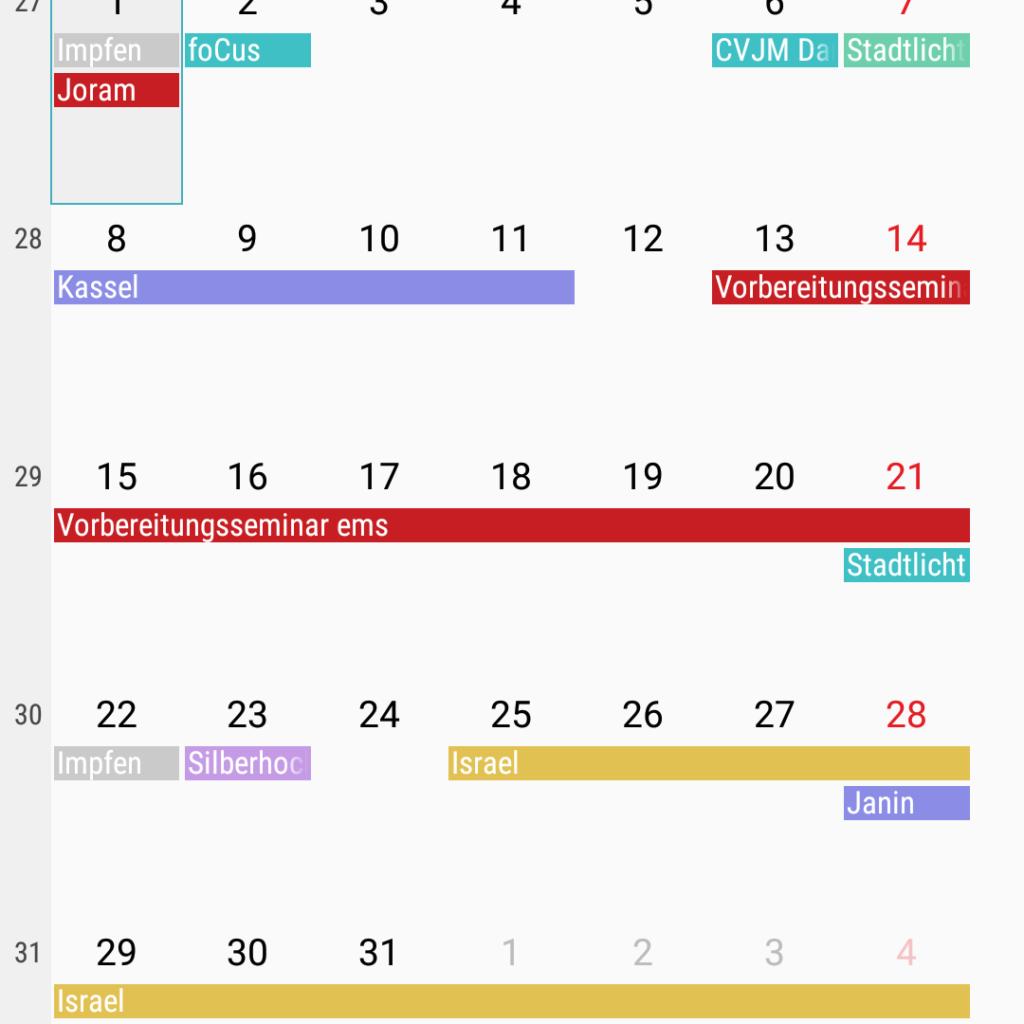 Gute Planung geht bei mir nur dank Handy-Terminkalender
