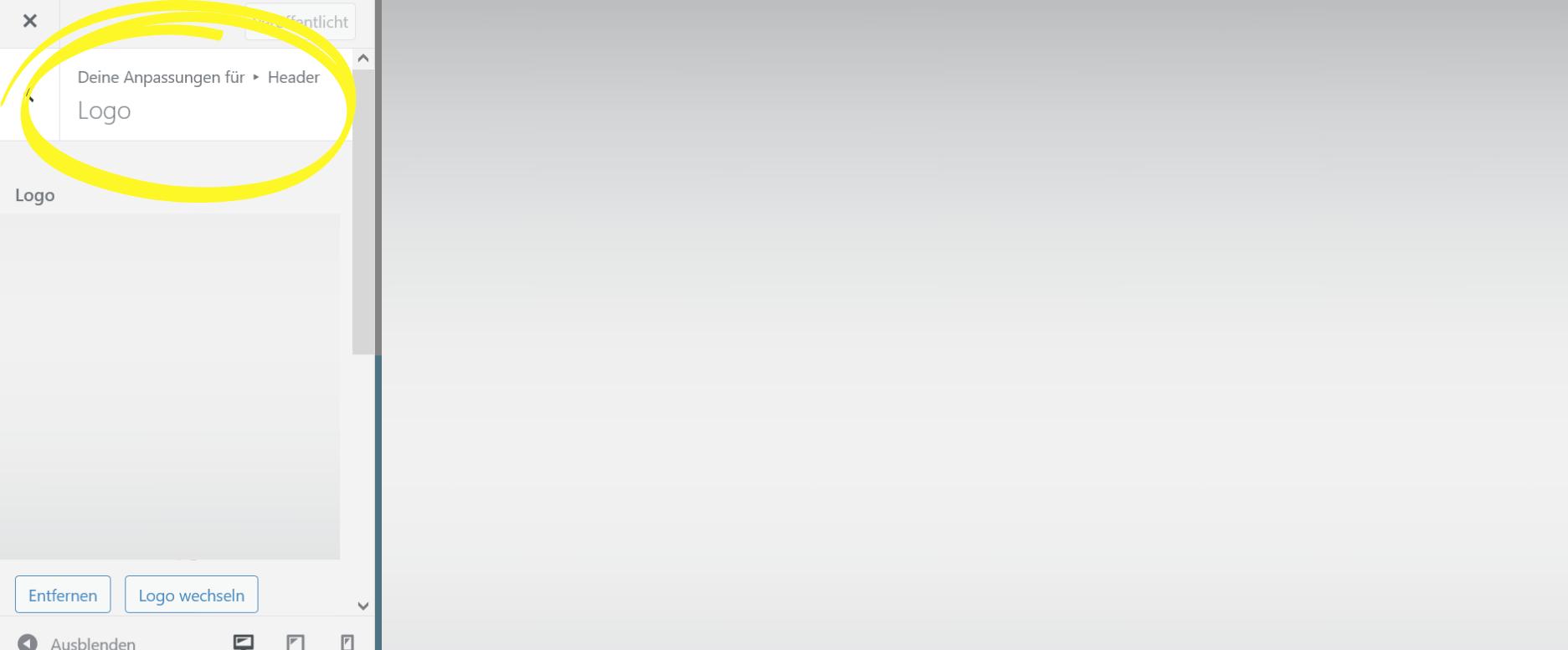 Wordpress Logo hochladen