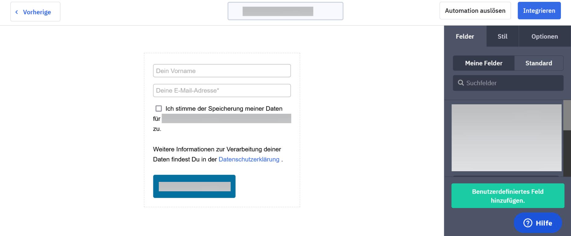 Newsletter Anmeldeformular Beispiel